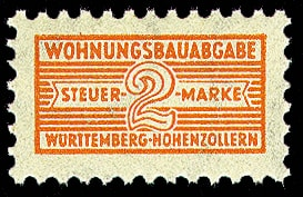 Notopfermarke für den sozialen Wohnungsbau Württemberg-Hohenzollern