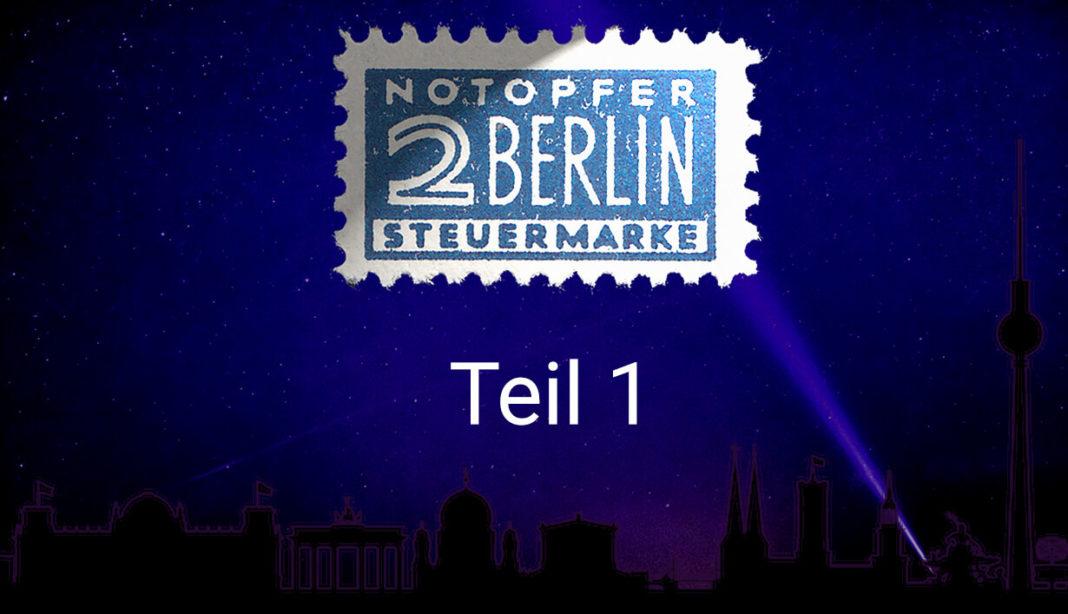 Wie alles begann - Notopfermarken Berlin