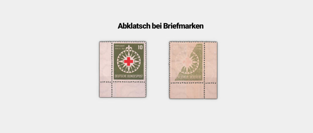 Abklatsch bei Briefmarken