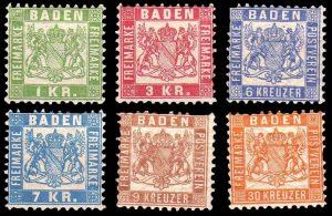 Baden Ausgaben von 1851