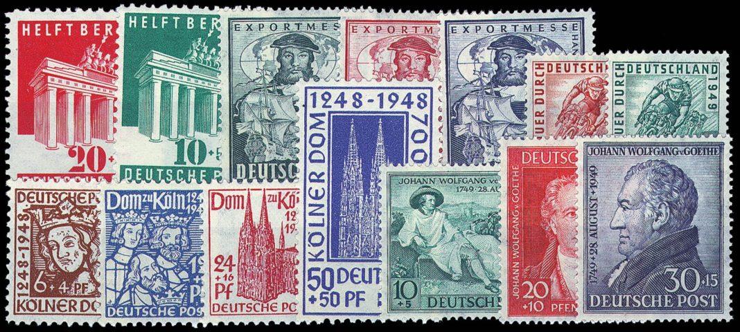 Postfrisch - Briefmarken in bestmöglichem Erhaltungsgrad