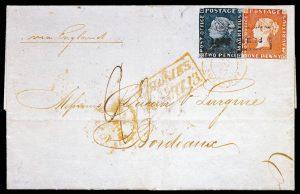 Der Bordeaux Brief mit 2 Mauritius Marken