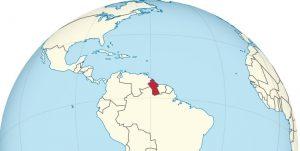 Das Land Guiana auf der Landkarte