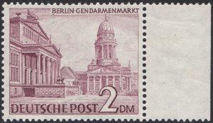 Berlin Michel-Nr 58 II Sekundärer Plattenfehler