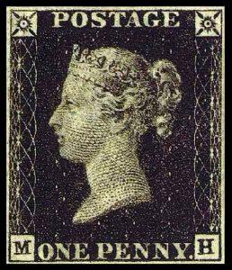 One Penny Black - Englands und auch weltweit erste Briefmarke