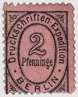 Privatpost von J. J. Schreiber - Erste Privatpostmarke