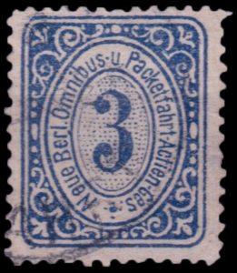 Neue Berliner Omnibus- und Packetfahrt Actien Gesellschaft Briefmarke von 1886