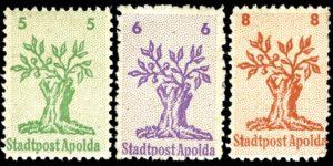 Die Apolda-Apfelbaum Lokalausgaben von 1949
