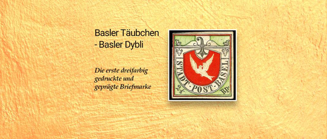 Erste mehrfarbige Briefmarke - Basler Taube