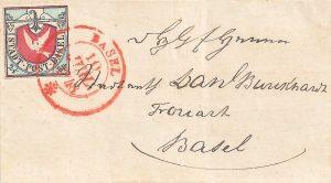 Basler Taube auf Brief