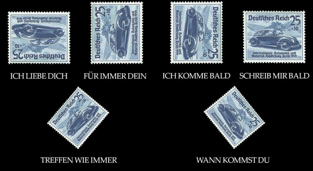 Beispiel für die Briefmarkensprache