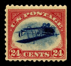 Inverted Jenny Fehldruck der US Post