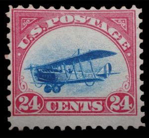 Not Inverted Jenny - Normale 24 Cent Briefmarke