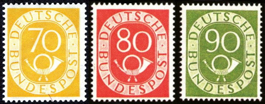 70, 80 und 90 Pfennig Posthörner - die teuersten