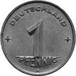 1 Pfennig - DDR - Erste Serie Avers