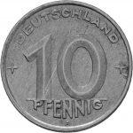 10 Pfennig - DDR - Erste Serie Avers