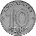10 Pfennig - DDR - Zweite Serie - Avers