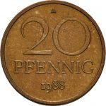 20 Pfennig - Bronze-Aluminium Legierung - Avers