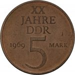 5 Mark - Bronze-Aluminium Legierung - Avers