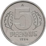 5 Pfennig - 3te Serie - Avers