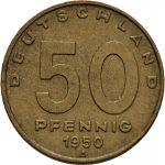 50 Pfennig - Bronze-Aluminium Legierung - Avers