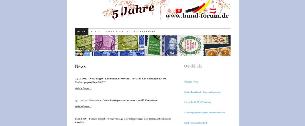 Bund Forum Screenshot - Der Bund für Philatelisten