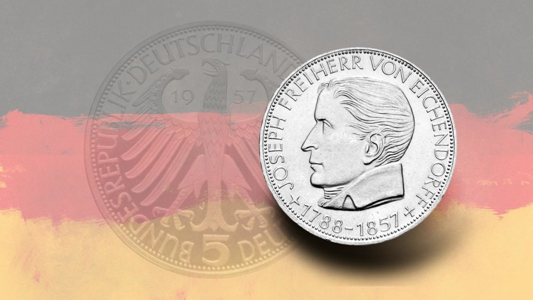 Freiherr von Eichendorff Gedenkmünze