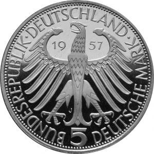 Freiherr von Eichendorff Gedenkmünze - Rückseite