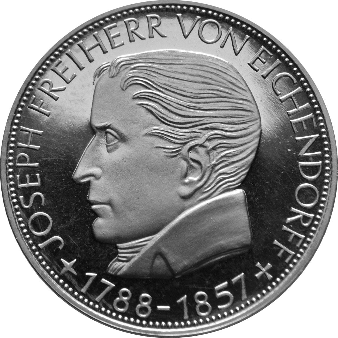 Freiherr von Eichendorff Gedenkmünze - Vorderseite