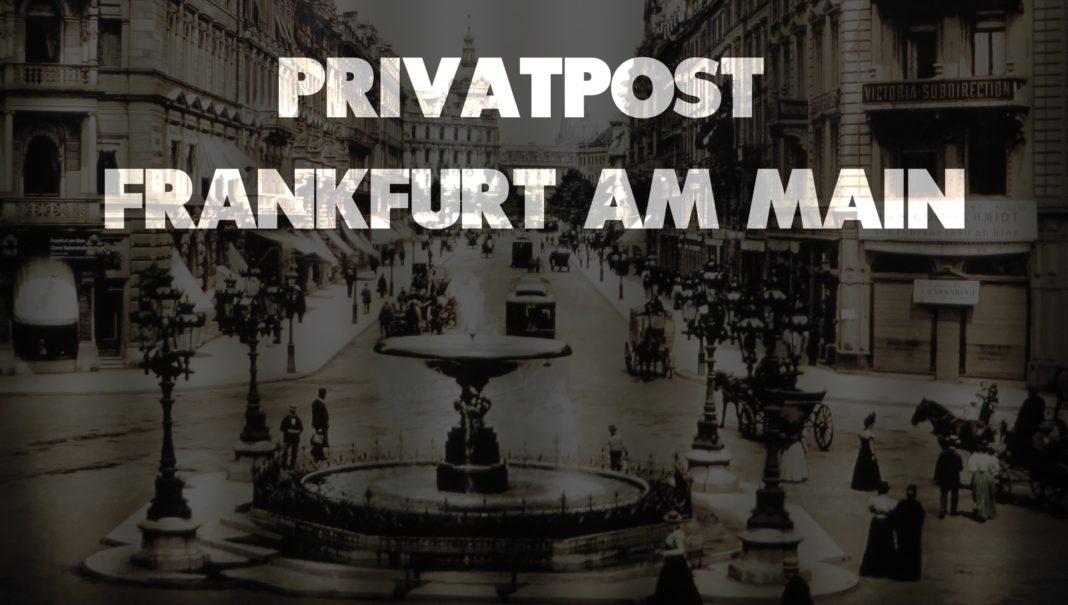 Privatpost - Frankfurt am Main, Vintage Bild aus dem 19 Jhd
