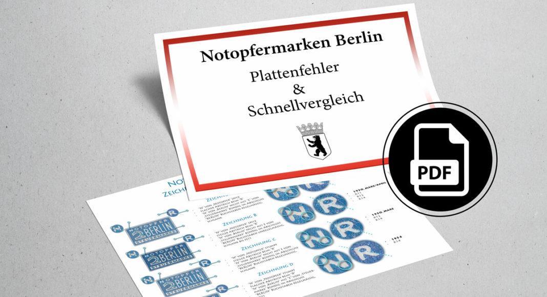 Notopfermarken Berlin Plattenfehler PDF
