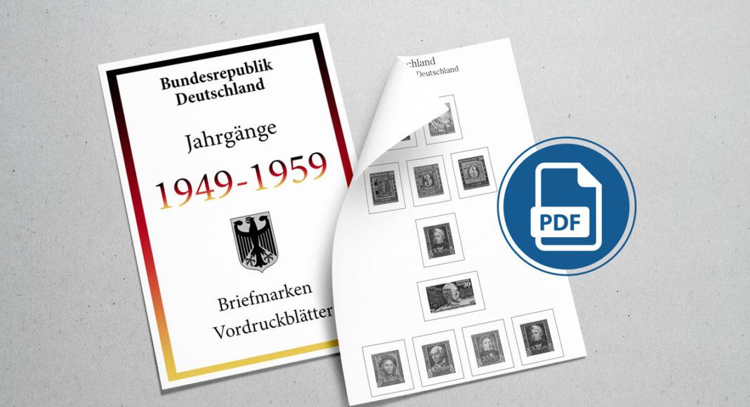 Briefmarken Vordruckblätter selber machen Deutschland 1949-1959