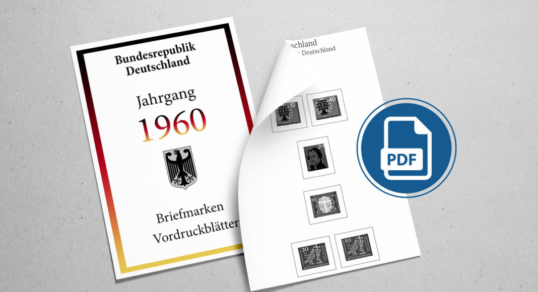 Briefmarken Vordruckblätter PDF Deutschland 1960
