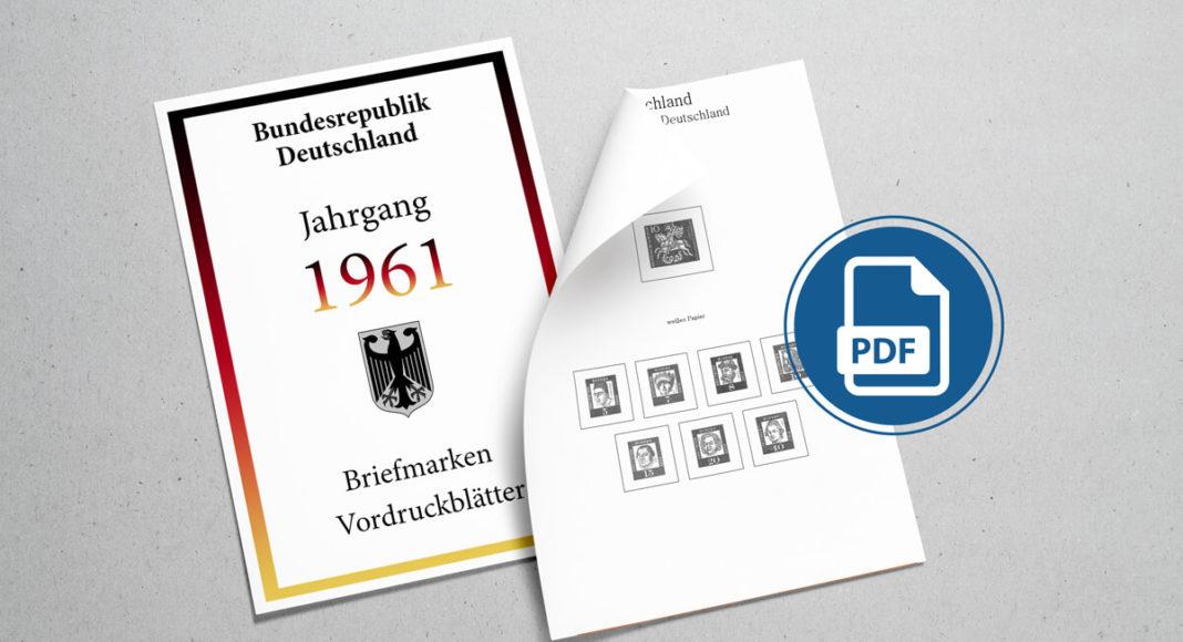 Briefmarken Vordruckblätter selber machen Deutschland 1961