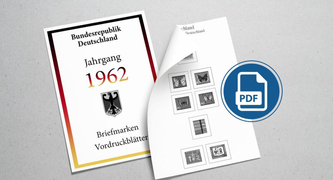Briefmarken Vordruckblätter selber machen Deutschland 1962
