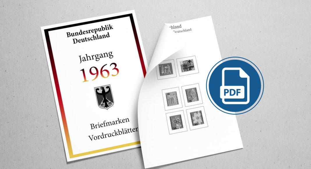Briefmarken Vordruckblätter PDF Deutschland 1963