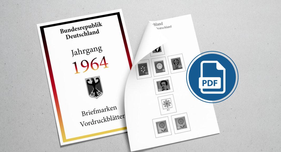 Briefmarken Vordruckblätter selber machen Deutschland 1964