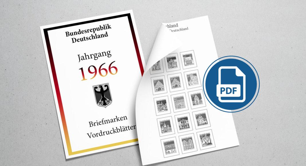 Briefmarken Vordruckblätter selber machen Deutschland 1966