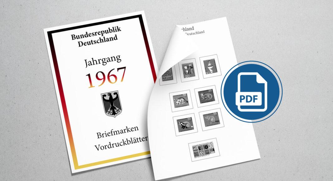 Briefmarken Vordruckblätter selber machen Deutschland 1967