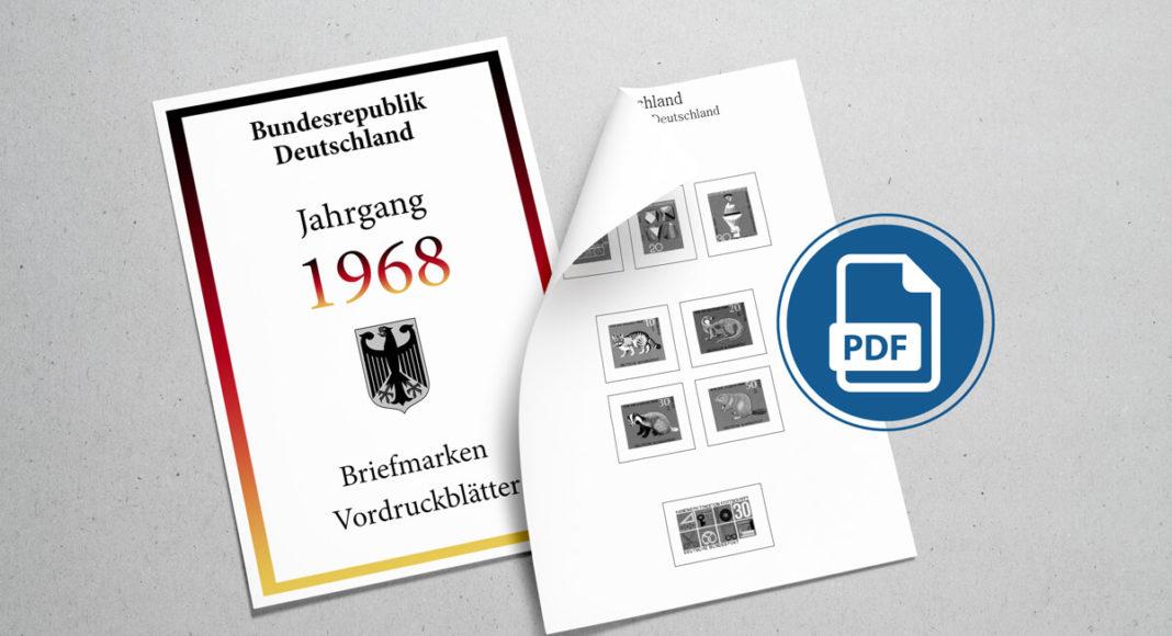 Briefmarken Vordruckblätter PDF Deutschland 1968