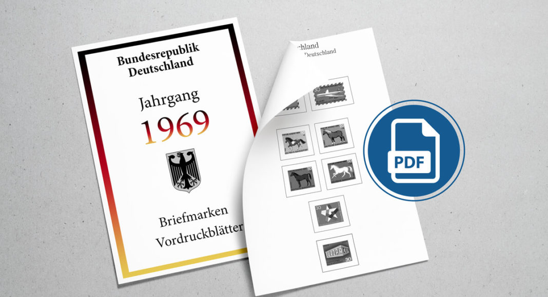 Briefmarken Vordruckblätter selber machen Deutschland 1969