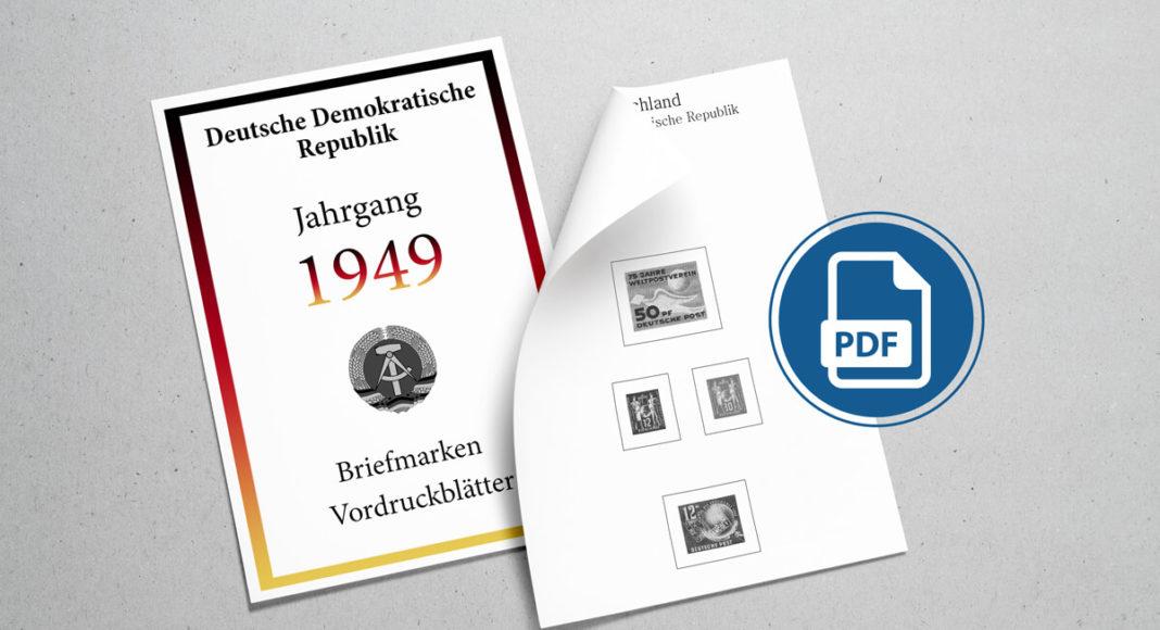 Briefmarken Vordruckblätter selber machen Deutschland 1949