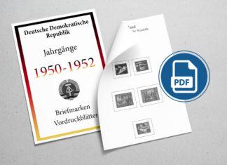 Briefmarken Vordruckblätter selber machen Deutschland 1950-1952