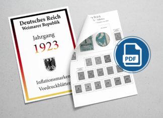 Inflationsmarken Vordruckblätter selber machen Deutschland 1923