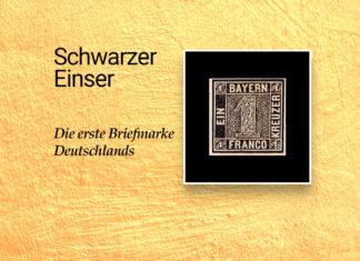 erste deutsche Briefmarke - schwarzer Einser