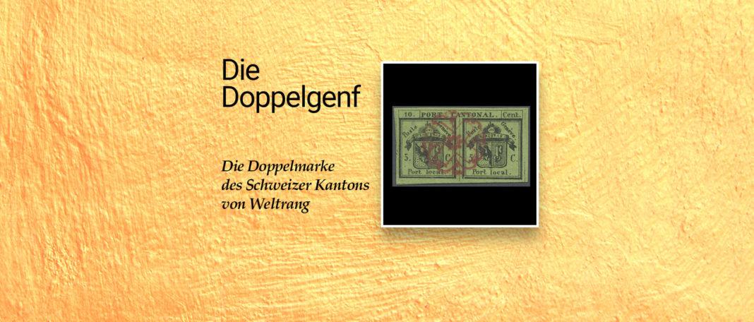 Doppelgenf Briefmarke - Legende der Schweiz