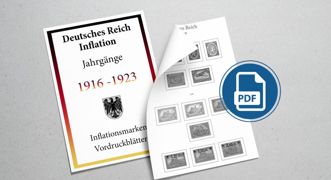 Briefmarken Vordruckblaetter Inflation 1916-1923