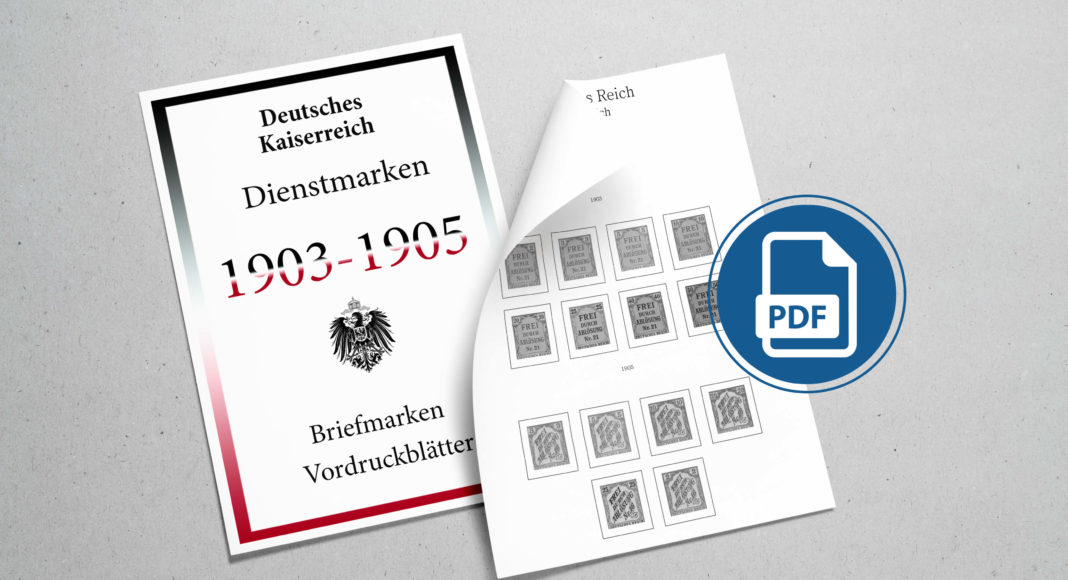 Briefmarken Vordruckblaetter Deutsches Kaiserreich Dienstmarken
