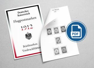 Briefmarken Vordruckblaetter Deutsches Kaiserreich Flugpostmarken