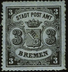3 Grote Briefmarke Bremen